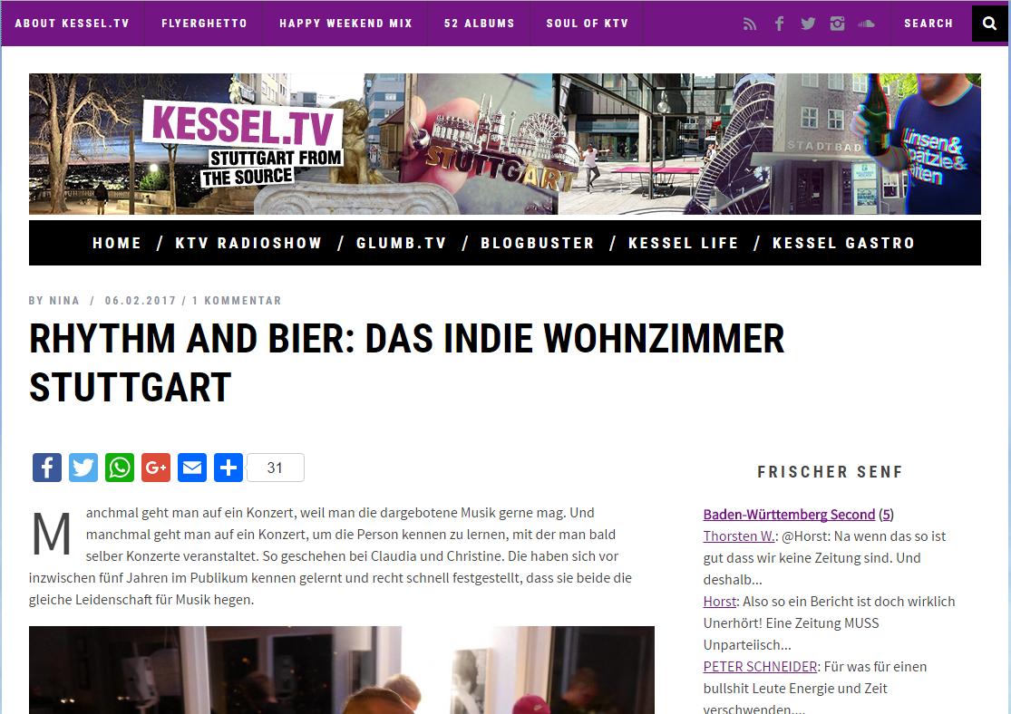 """""""Rhythm and Bier"""". Kessel.TV über das InDieWohnzimmer"""