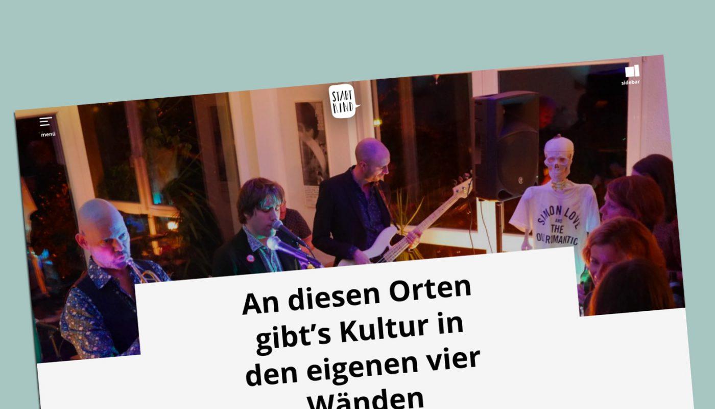 """""""Kultur in den eigenen vier Wänden"""" (Stadtkind 07.11.2018)"""